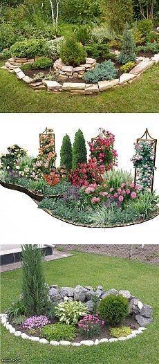 50 New Front Yard Landscaping Design Ideas Gorgeous and Pretty Front Yard Garden and Landscaping Ideas Cheap Landscaping Ideas, Small Backyard Landscaping, Corner Landscaping Ideas, Backyard Ideas, Acreage Landscaping, Landscaping Edging, Small Gardens, Outdoor Gardens, Yard Design