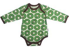 Snoozy l/s bodysuit - Green Kiwi Retro Baby Clothes - Baby Boy clothes - Danish Baby Clothes - Smafolk - Toddler clothing - Baby Clothing - Baby clothes Online