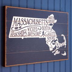 Wicked State of Awesome Wooden Sign from Chowdaheadz