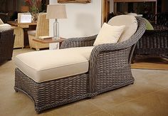Wicker Chaise lounge chair