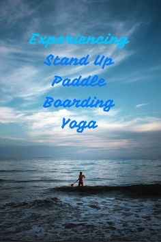 My first time trying yoga...on a SUP!: