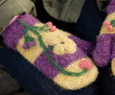 Felted mittens are fabulous!  Crochet Mitten Pattern: Spring Fever Mittens
