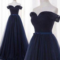 navy blue off shoulder prom dresss, #promdresses, #promdresses2017, #navyvlueformaldresses http://www.coniefoxdress.com/