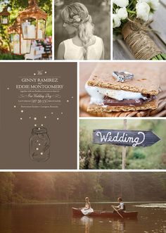 Camp Wedding Inspiration - pinned to win, go here team mo-ro https://www.facebook.com/minted/app_120860451431022