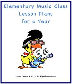 Music Class Lesson Plans for a Year, K-4th grades