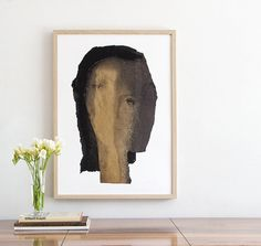 Old Gold and Black Wall Art Print of Original Painting by BorianaM
