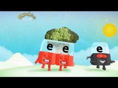 Alphablocks - Episode 2 (Learning the Alphabet) et, ed, ee, silent e, er Phonics Videos, Phonics Song, Phonics Words, Alphabet Phonics, Alphabet Video, Learning The Alphabet, First Grade Phonics, First Grade Reading, Abc Activities