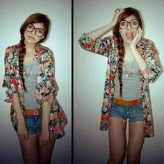 so.. this is what you do with the crazy odd floral clothing found at thrift stores. I like it.