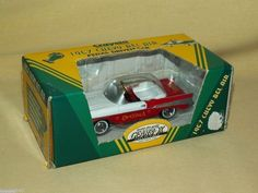GEARBOX CRAYOLA CRAYONS 1957 CHEVY BEL AIR RED WHITE PEDAL CAR ORNAMENT NEW LTD #GearBox #Chevrolet