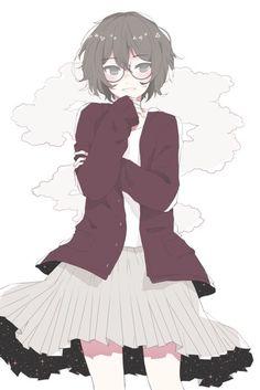 Eto #megane, #glasses, #anime girl