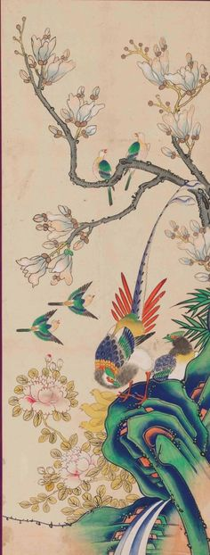 국립고궁박물관 소장작품들 여덟번째 입니다 : 네이버 블로그 Chinese Painting, Rooster, Asian, Wallpaper, Artwork, Animals, Color, Style, Paper Envelopes