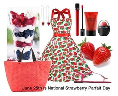 National Strawberry Parfait Day by dressmeup365 on Polyvore featuring polyvore, fashion, style, Chicnova Fashion, Roger Vivier, Neiman Marcus, Marc Jacobs, Sephora Collection and clothing