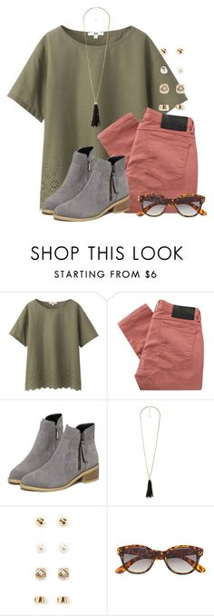 """""""I'm gonna get these shoes for fall"""" by flroasburn ❤ liked on Polyvore featuring Uniqlo, Religion Clothing, Charlotte Russe, Forever 21 and H&M"""