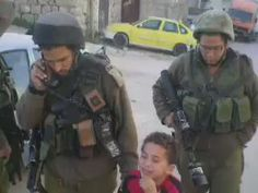 Israeli soldiers arresting the biggest threat to their criminal state. a 5-year old Palestinian. He's crying..