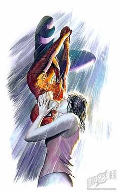 Spiderman and Mary Jane painted by Alex Ross  (http://www.alexrossart.com/)
