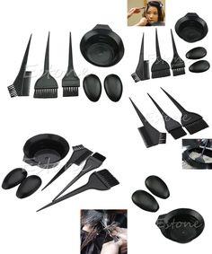 [Visit to Buy] 1Set 5Pcs New Hairdressing Salon Hair Color Brushes Bowl Combo Dye Tint Tool Kit #Advertisement