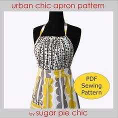 APRON PATTERN for  Women   Full PDF Apron Tutorial por SugarPieChic, $8.00