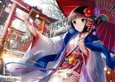 e-shuushuu kawaii and moe anime image board Chibi Anime, Moe Anime, Anime Kawaii, Manga Anime, Kimono Animé, Anime Girl Kimono, Manga Girl, Anime Girls, Yukata