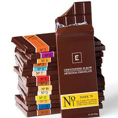 Great Gifts on a Budget:  Christopher Elbow Artisanal Chocolates  (my favorite bar is No 2 - Dark Spice and I LOVE his Venezuelan Spice Drinking Chocolate). I'm lucky to live in the city where Christopher has his main base of operations -- Kansas City.