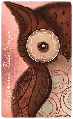 https://flic.kr/p/bZmeLG | Owl | Whimsical owl illustration by artist Johanna Parker. SEE full image on Johanna's fan page here: www.facebook.com/JohannaParkerDesign