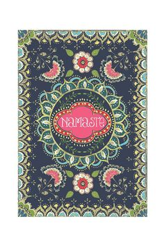 PAPAYA! Art Vintage Namaste Small Card