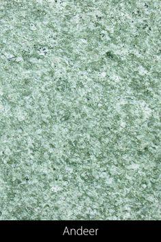 Andeer, der weltweit beliebte und grüne Gneis aus Graubünden, erhielt den Namen vom Ort seines Vorkommens. Der Stein wird in drei Steinbrüchen gewonnen (Crap da Sal, Cuolmet und Parsagna). Abhängig vom Abbaugebiet variiert seine Farbe von Graugrün bis Milchiggrün. Beim Andeer handelt es sich um einen wunderschön geschieferten Gneis mit einer mittlerer Körnung und kleinen weissen Einsprenglingen. Mit einem Tisch aus diesem typischen schweizer Stein, holst du dir ein Stück heimische Bergwelt… Terrazzo, Rugs, Design, Home Decor, Petrified Wood, Flagstone, Swiss Guard, Natural Stones, Names