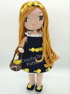 Crochet Doll Pattern, Crochet Dolls, Crochet Patterns, Catania, Step By Step Crochet, Pamela, Crochet Doll Clothes, Smart Doll, Doll Eyes