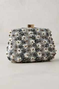 Serpui Marie Wild Daisies Clutch Blue One Size Clutches #anthrofave