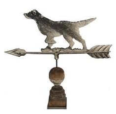 Flight Tracker Antique Folk Art Weathervane Black Cat Cutout Iron On Wood Base American Vintage Architectural & Garden