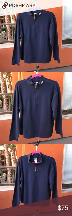 Blue north face men's pullover BARELY WORN. SMOKE/PET FREE. super comfy and lightweight. 100% polyester. Flight series. None to minimal signs of wear. The North Face Jackets & Coats Lightweight & Shirt Jackets