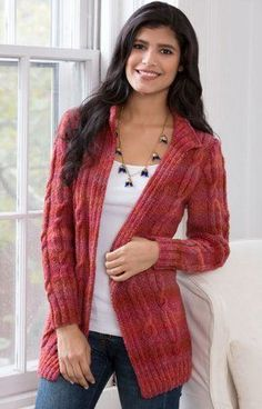 Autumn Rose Cardigan | AllFreeKnitting.com