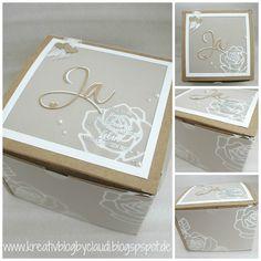 Kreativ Blog by Claudi: Rosen-Box zur Hochzeit