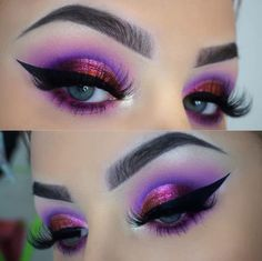 38 + Trendy Hair Color Purple Tips Eye Makeup Hooded Eye Makeup, Eye Makeup Tips, Eyeshadow Makeup, Beauty Makeup, Hair Makeup, Maybelline Eyeshadow, Eyeshadows, Eyeshadow Palette, Makeup Tips