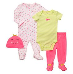 Product: Carter's® Baby Girls' Pink/Green 4-pc. Cherries Set