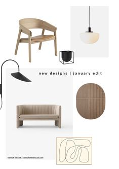 New designs for Januaary My january edit sharing Scandinavian designs with soft minimalism, lighting, sculpture and gorgeous furniture.