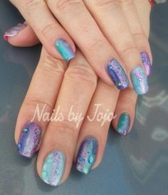 Shellac # Cnd Additives # water droplet effect # Nails by Jojo