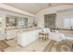 Pin for Later: Nick Cannon Is Stunned to Learn That Mariah Sold Their $9M Mansion!  This bathroom, one of nine in the home, is larger than many studio apartments!