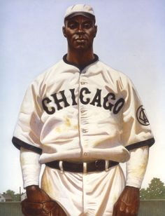 Kadir Nelson's painting of Oscar Charleston, Chicago American Giants (1919).