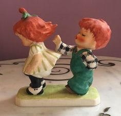 "Goebel Charlot Byj ""Guess Who"" Redhead Figurine, 1958 Hummel"