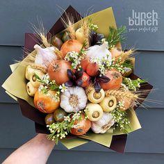 For flu season or Autumn Food Bouquet, Diy Bouquet, Candy Bouquet, Edible Bouquets, Floral Bouquets, Edible Arrangements, Flower Arrangements, Vegetable Bouquet, Deco Buffet