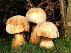 wooden mushrooms art sculpture ornament gifts and presents wood carvings | handmade4u.co.uk online shop