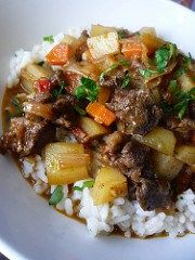 Last time I cooked mutton is was with a morrocan spice blend this time heading for the West Indies with a hot & spicy jerk seasoning.I love jerk seasoning its often used when BBQ, I have … Carribean Food, Caribbean Recipes, Mutton Stew Recipe, Curry Goat, Rice And Peas, Curry Spices, Ras El Hanout, Jamaican Recipes, Jamaican Dishes