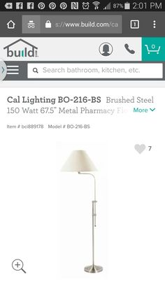 Floor lamp option (pin was not avail)