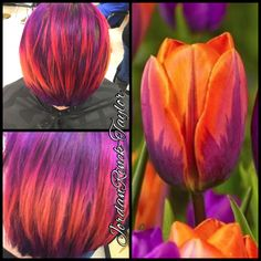 Purple-orange hair. Instagram @jordanrincktaylor