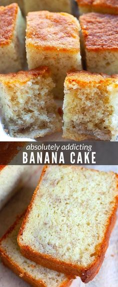 Moist Banana Cake Recipe, Healthy Banana Cakes, Baking Recipes, Cake Recipes, Dessert Recipes, Baking Ideas, Sweet Desserts, Delicious Desserts, Best Sweets