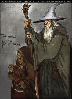 Gandalf The Grey by Wangyuxi.deviantart.com on @deviantART