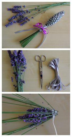 Lavender Wands, Lavender Crafts, Lavender Garden, Lavender Blue, Lavender Flowers, Dried Flowers, Diy Craft Projects, Diy And Crafts, Arts And Crafts