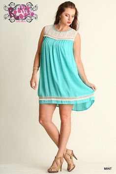 Curvy Lace & Fringe Dress