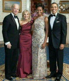 President Barack Obama & First Lady Michelle Obama with Vice President Joe Biden and Wife Dr. Jill Biden (2011)