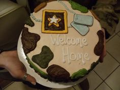 military welcome home cake party party party pinterest cake